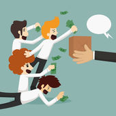 Businessman online shopping, e-commerce concept — Stock Vector