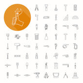 Hand tools icons , thin icon design — Stock Vector