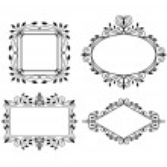 Set of vintage graphic frames — Stock Vector