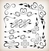 Conjunto de elementos de diseño art deco — Vector de stock