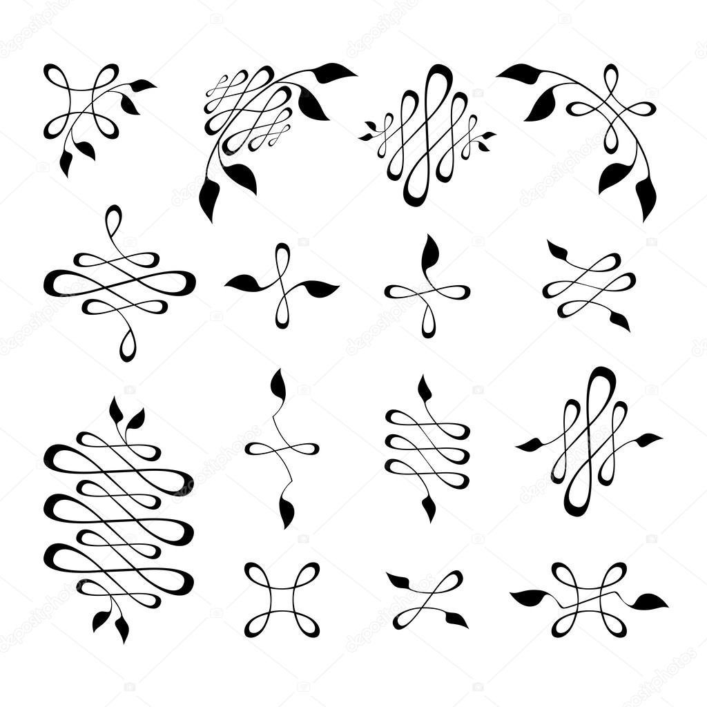 Set of art deco design elements stock vector zubroffka - Art deco design elements ...
