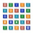 Snowflake icons — Stock Vector #14118685