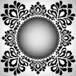 Stock Vector: Ornamental template