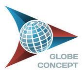 Globe concept — Stock Vector