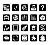 Finansowych i biznesowych ikony — Wektor stockowy