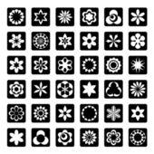 Sada ikon, květinové — Stock vektor