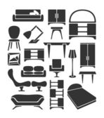 Graphical furniture set — Stockvektor