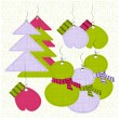 Stock Vector: Christmas labels' set