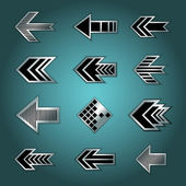 Set of metallic arrows — Stockvektor