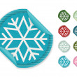 Snowflake stickers — Stock Vector