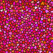 Seamless hand drawn pattern with hearts — Stock Vector