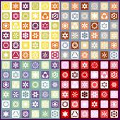Ensemble de quatre motifs floraux de la mosaïque sans soudure — Vecteur