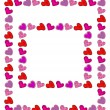 Two hand drawn hearts frames — Stock Vector