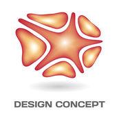 Concepto de diseño abstracto — Vector de stock