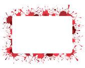 Röda stänk bakgrund — Stockvektor