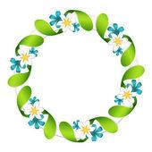 Flowers garland — Stock Vector