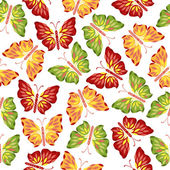 Seamless pattern with decorative butterflies — Stock Vector