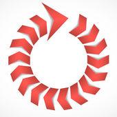 Cycle arrow concept — Stock Vector