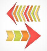 Two arrows concepts — Stock Vector