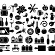 Set of kitchen, cooking and food icons — Stock Vector #42345939
