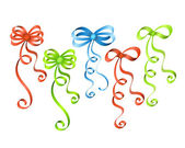 Colorful ribbon bows — Stock Vector