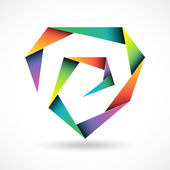 Brand polygonal design concept — Stok Vektör