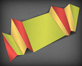 Abstract folded paper background — Stockvektor
