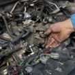 Stock Photo: Car servicing
