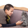Girl and cat — Stock Photo #14600057