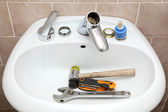 Plumber tools — Stock Photo