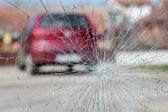 Krossat glas — Stockfoto