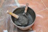 Home renovation, concrete — Stock Photo