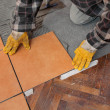 Home renovation, tiles — Foto Stock
