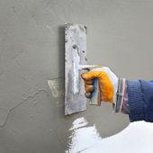 Home renovation polystyrene insulation — Stock Photo