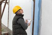 House renovation polystyrene insulation — Stok fotoğraf