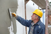 House renovation polystyrene insulation — Stock Photo