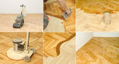 Home renovation, parquet — Stock Photo