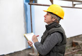 Inspector at construction site — Stock Photo