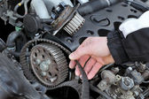 Car servicing — Stock Photo