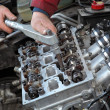 Stock Photo: Automotive, cylinder head servicing