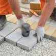 Construction site, brick paver — Stock Photo #43803867