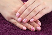 Beauty treatment of fingernails — Stock Photo