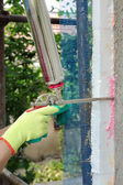 Construction site, styrofoam insulation — Stockfoto