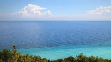 Seascape, Mediterranean sea and clouds — Stock Video
