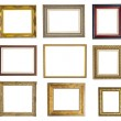 Set of different picture frames — Stockfoto