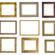 Set of different picture frames — Stock Photo