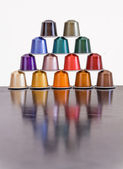 Colorful coffee capsules — Stock Photo