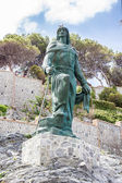 Abderrahman I statue in the town of Almuñecar in Granada — Stock Photo