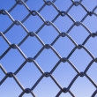 Chainlink fence - Stock Photo