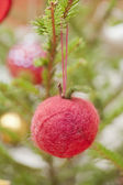Decoration in a christmas tree — Stock Photo